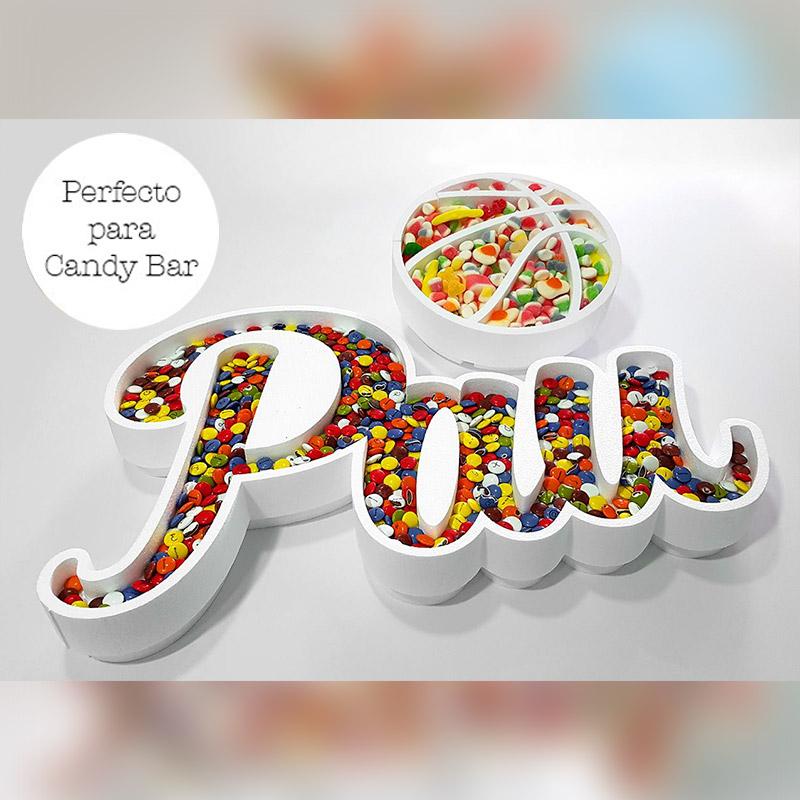 Corcho para candybar. Personalizado. Modelo pelota de basket