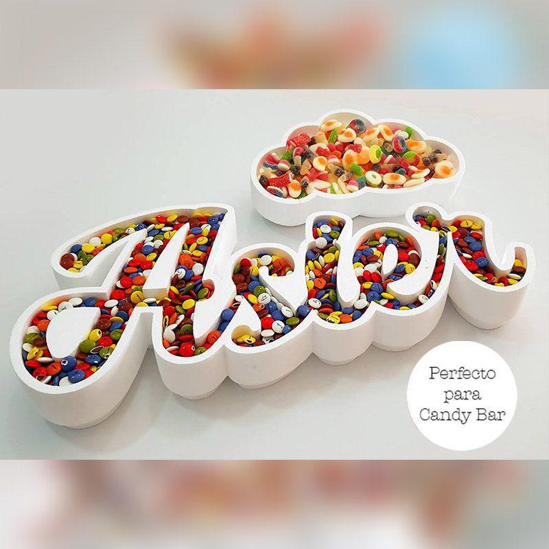 Corcho para candybar. Personalizado. Modelo nube