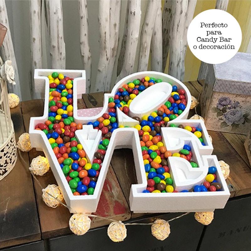 Ultimos regalos para invitados añadidos corcho palabra love para chuches