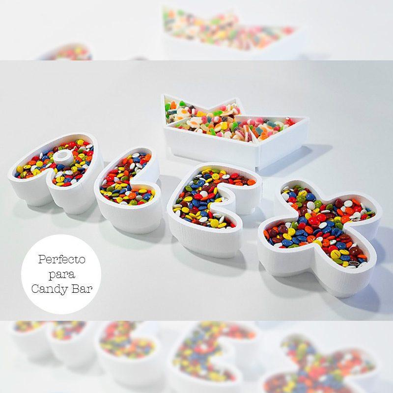 Corcho para candybar. Personalizado. Modelo Barquito