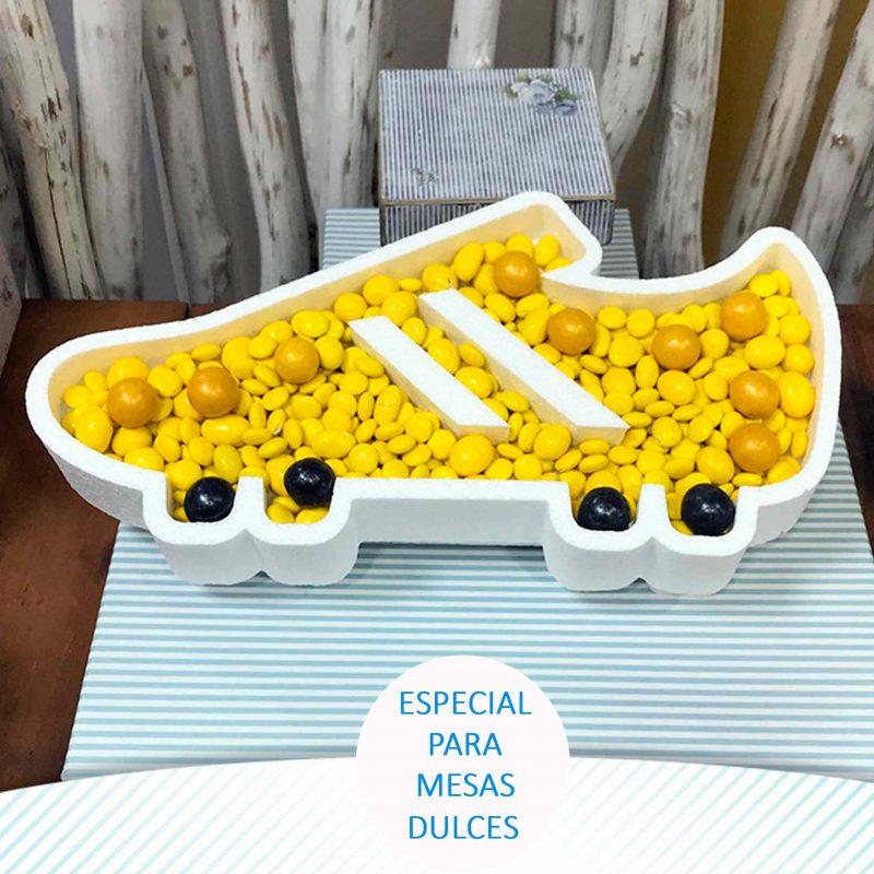 Corcho para candybar. Bota de Fútbol corcho para candybar bota de futbol detalles comunion scaled