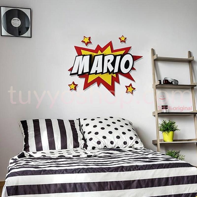 Nombre personalizado para decoración. Estilo comic. 60x50cm
