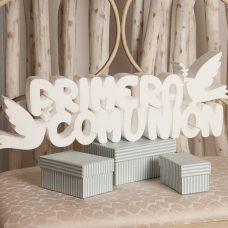 Corcho primera comunión en color blanco