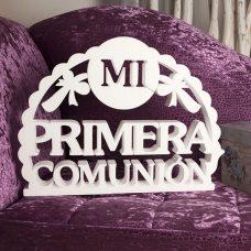 """Corcho """"Mi primera comunión"""" en color blanco"""