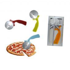 Cortapizza para boda. Cajita de presentación y lazo de regalo.