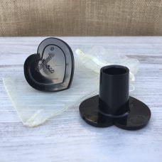 Cubretacones para boda especiales en color negro