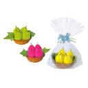 detalles para bodas toalla en forma de cesta peras