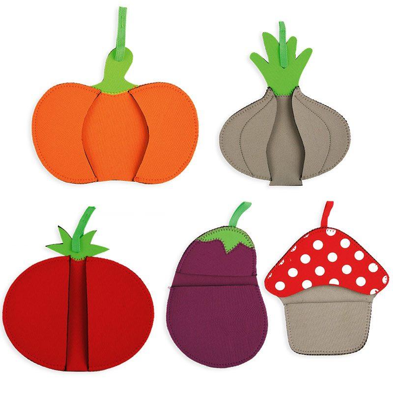 Manoplas de vegetales