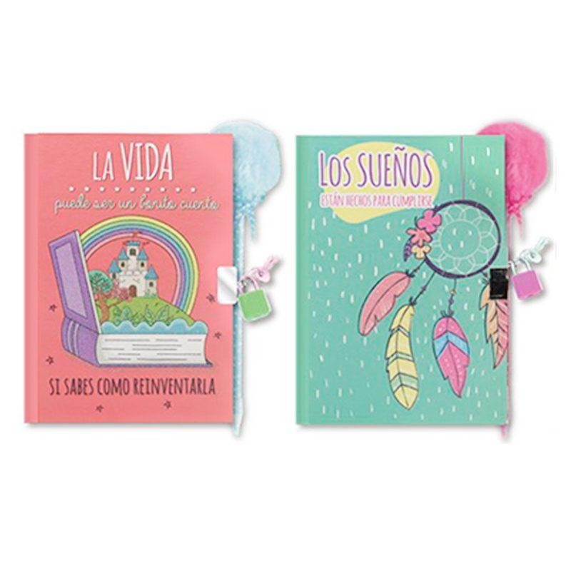 Diario infantil modelo sueños. Con bolígrafo y candado. diario infantil modelo suenos con boligrafo y candado 2