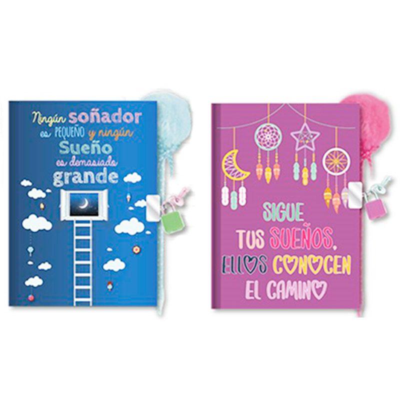Diario infantil modelo sueños. Con bolígrafo y candado. diario infantil modelo suenos con boligrafo y candado 3