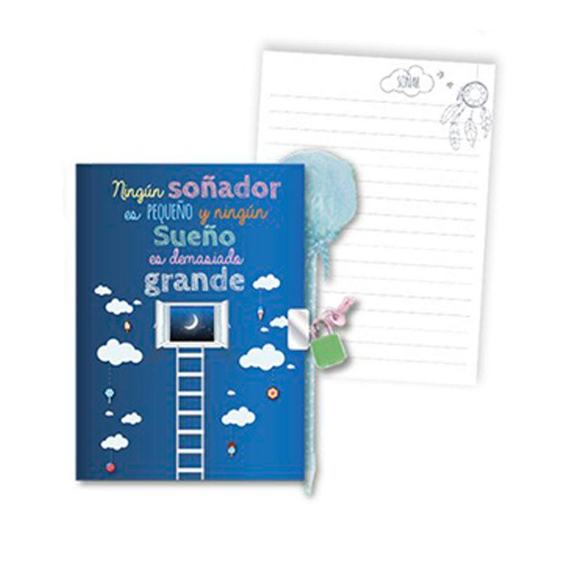 Diario infantil modelo sueños. Con bolígrafo y candado. diario infantil modelo suenos con boligrafo y candado 4