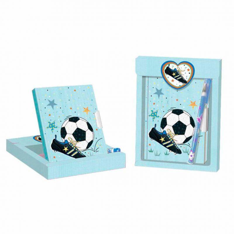 Ultimos regalos para invitados añadidos diario mas boligrafo modelo futbol