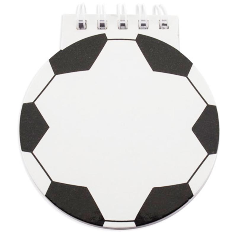 Divertidas libretas deportivas modelo fútbol