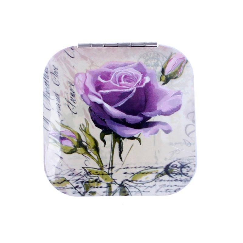 Espejo aluminio flores