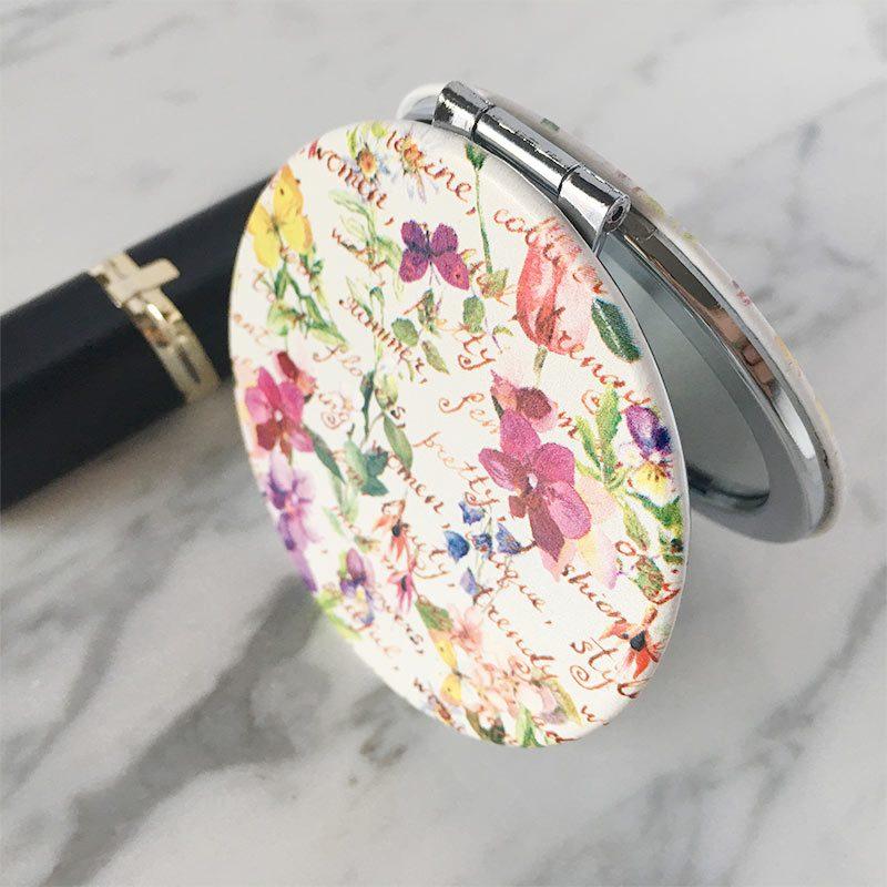 "Espejo de bolso, diseño ""glam"" espejo de bolso glam regalos de bodas"