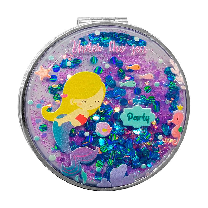 Original espejo con purpurina. Modelo sirena