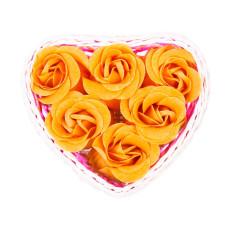 Estuche corazon 6 flores