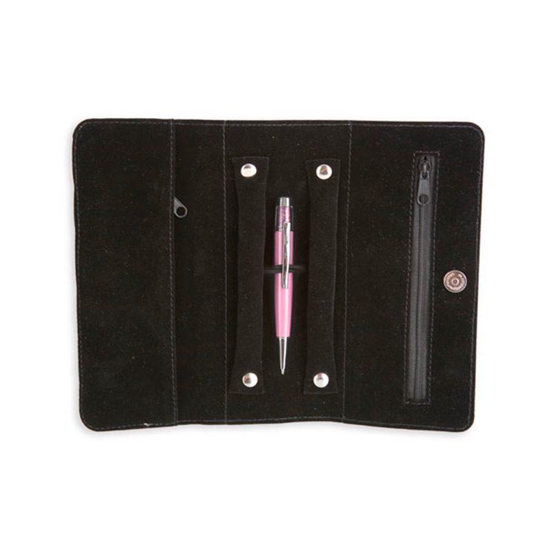 Estuche joyero con bolígrafo. Pier Cardín. Presentado en caja. 2 colores.