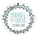 etiqueta para boda modelo olivitos