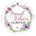 etiqueta para boda violet
