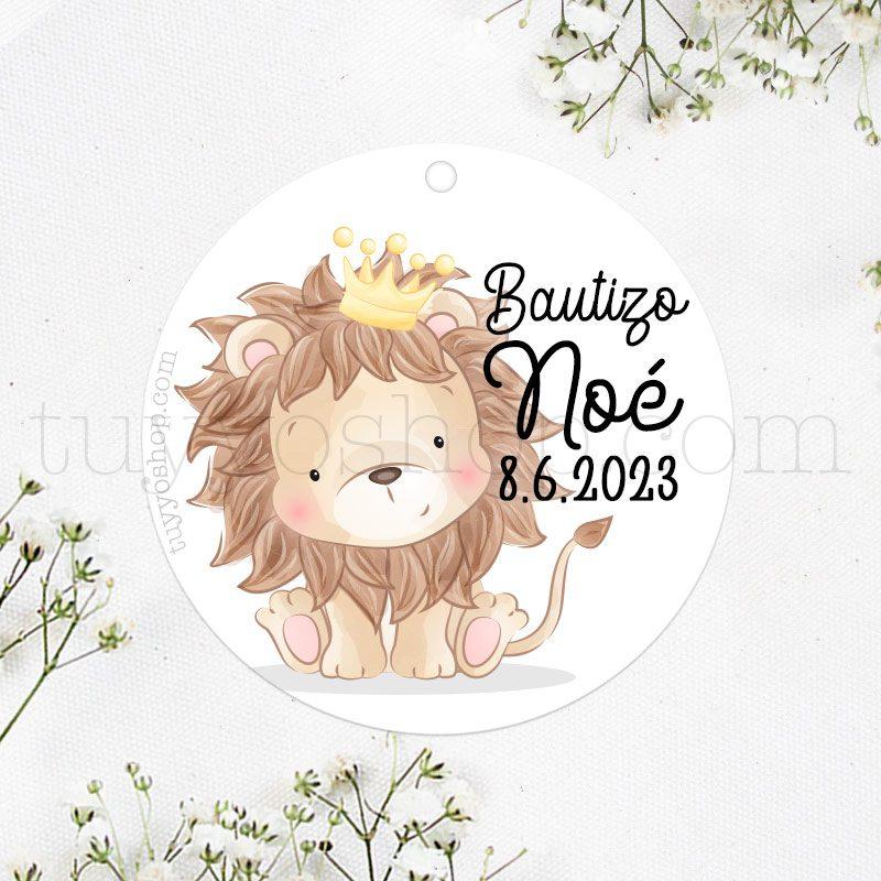 Etiqueta de Bautizo, León, el Rey