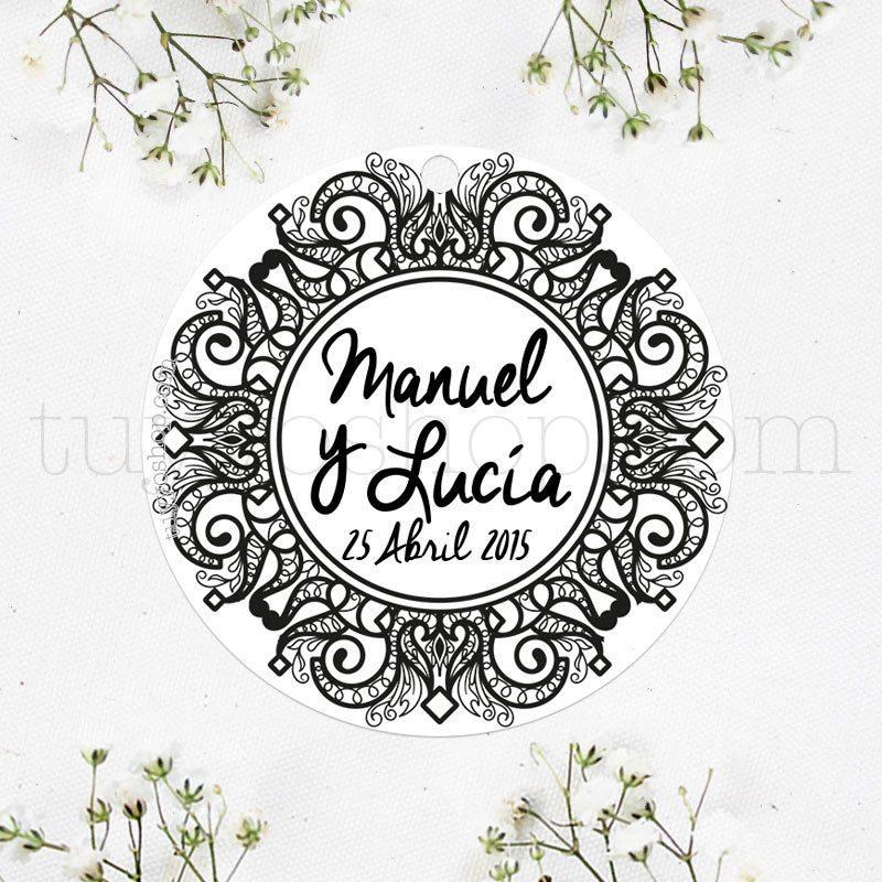 Etiqueta para boda diseño black