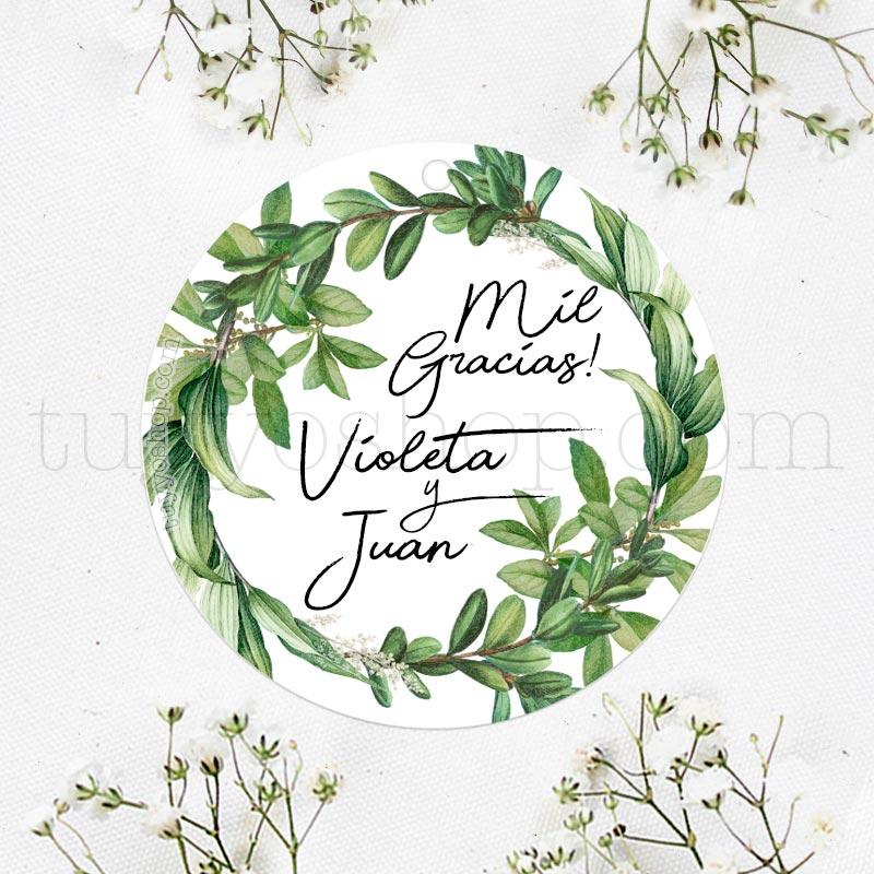 Etiqueta de boda modelo Botanical etiqueta de boda modelo botanical
