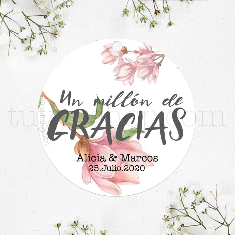 Etiqueta de boda diseño Sevilla. Personalizable.