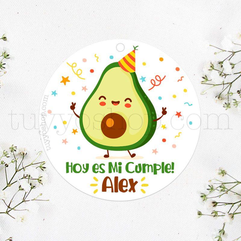 Etiqueta de cumpleaños Aguacate
