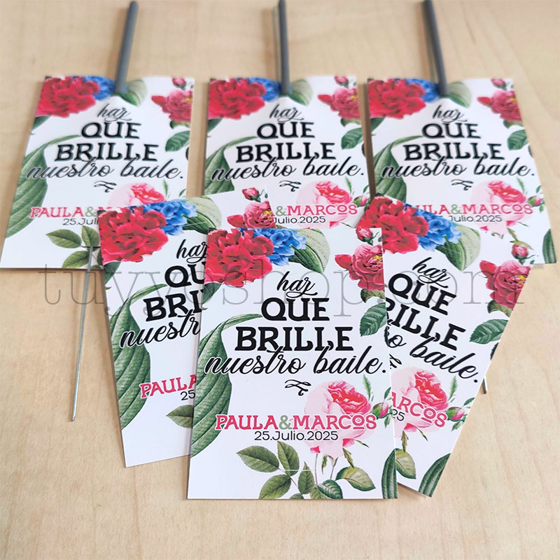Etiqueta para bengalas de boda. Modelo Sevilla etiqueta para bengalas modelo sevilla2