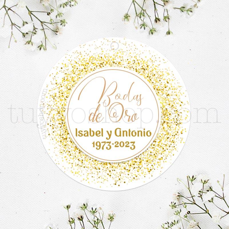 Etiqueta para Bodas de Oro etiqueta para bodas de oro