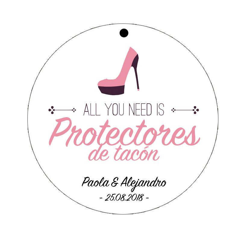 etiquetas para protectores de tacon, modelo all you need