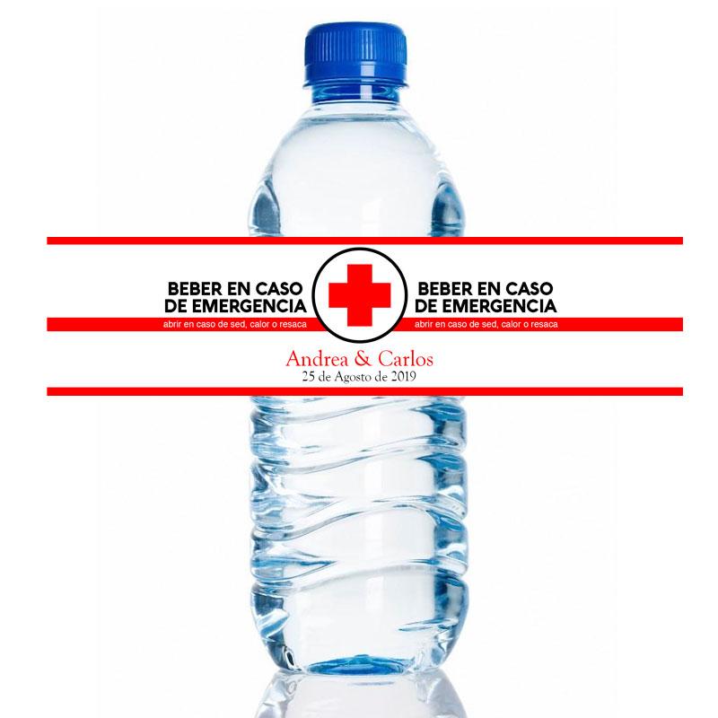 Etiqueta para botella de agua personalizada