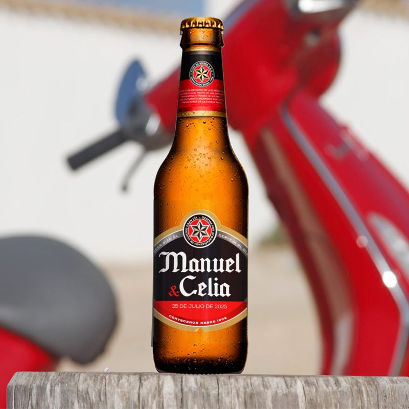 Etiqueta personalizada para cerveza. Modelo Estrella etiqueta personalizada estrella galicia