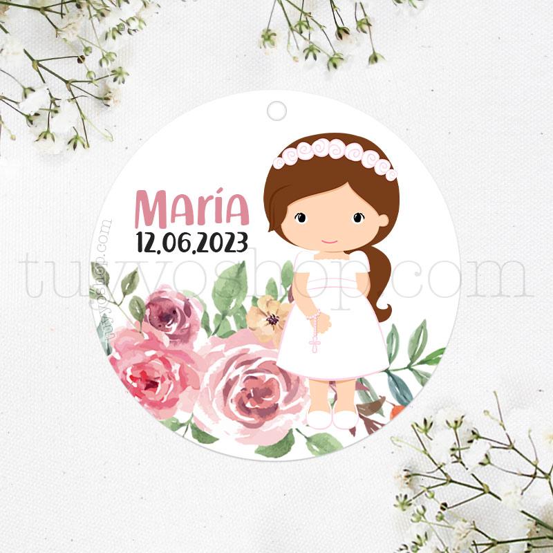 Etiqueta para regalos de comunión María