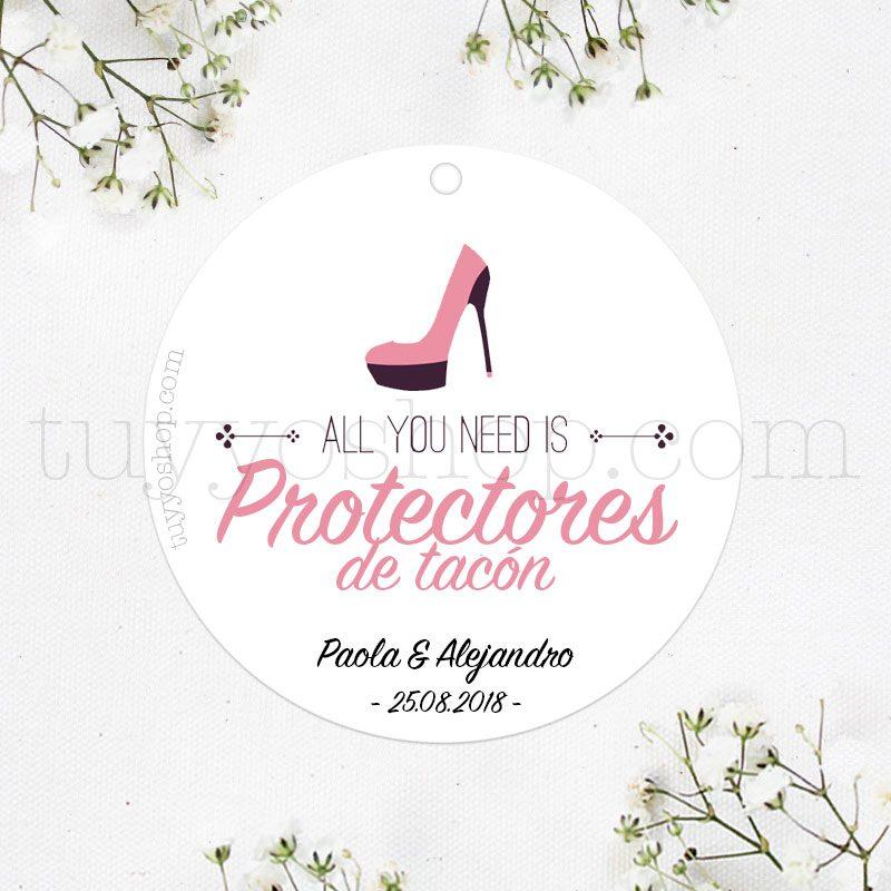 Etiquetas para protectores de tacón, all you need