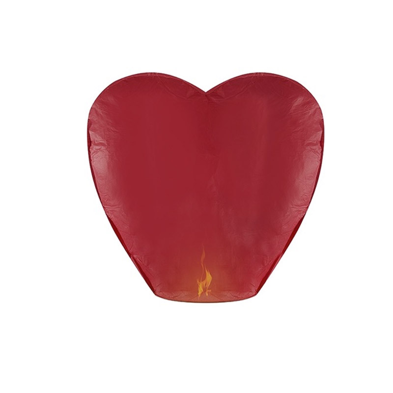 Farolillo volador para boda. Color rojo. Gran tamaño.