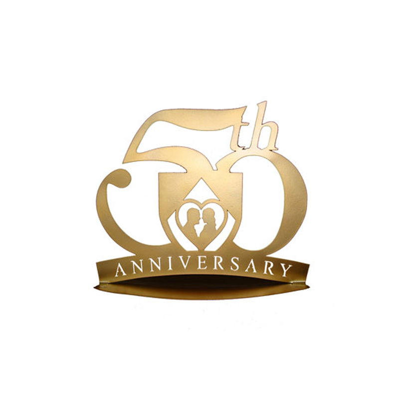 figura metálica para pastel de boda, modelo 50 aniversario