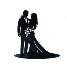 figura metálica para el pastel de boda, modelo enamorados.