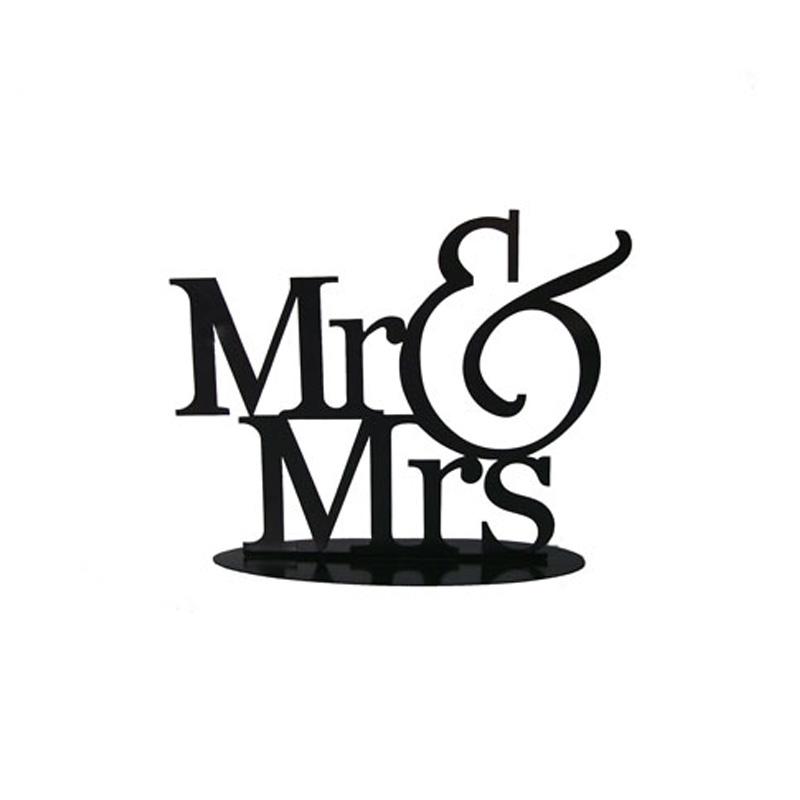 figura metálica para pastel de boda, modelo mr&mrs
