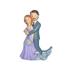 figura para pastel de boda, pareja abrazándose