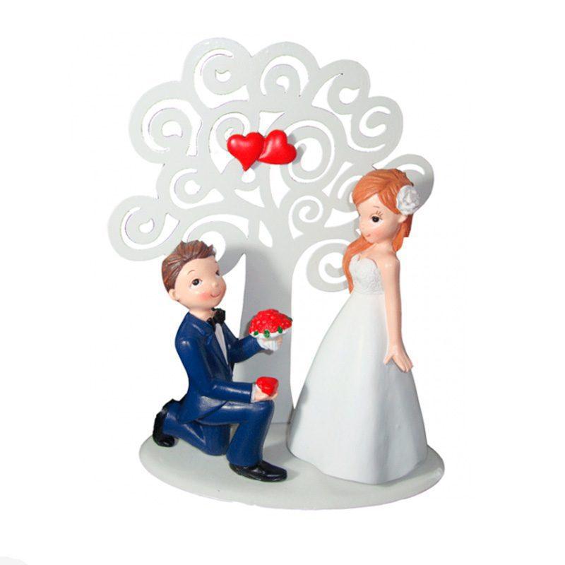 Figura para pastel de boda. Árbol de los enamorados