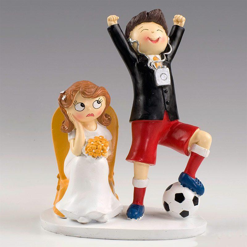 Figura para pastel de boda, modelo fútbol