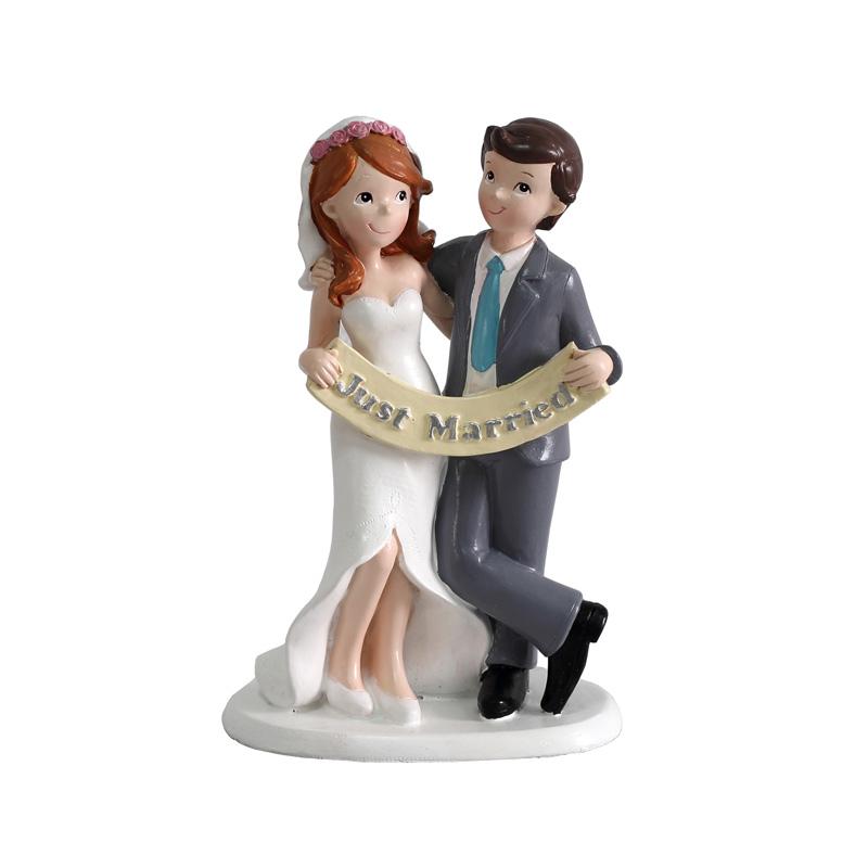 figura para pastel de boda modelo just married