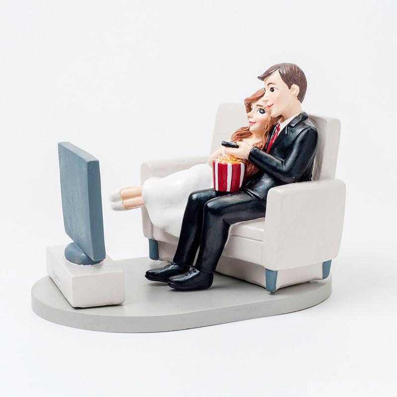 Ultimos regalos para invitados añadidos figura para pastel de boda modelo pop corn 14cm 1