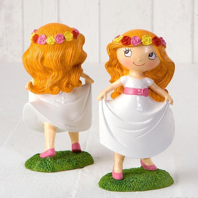 Figura para pastel niña comunión en pradera