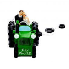 Figura para tarta de boda Tractor