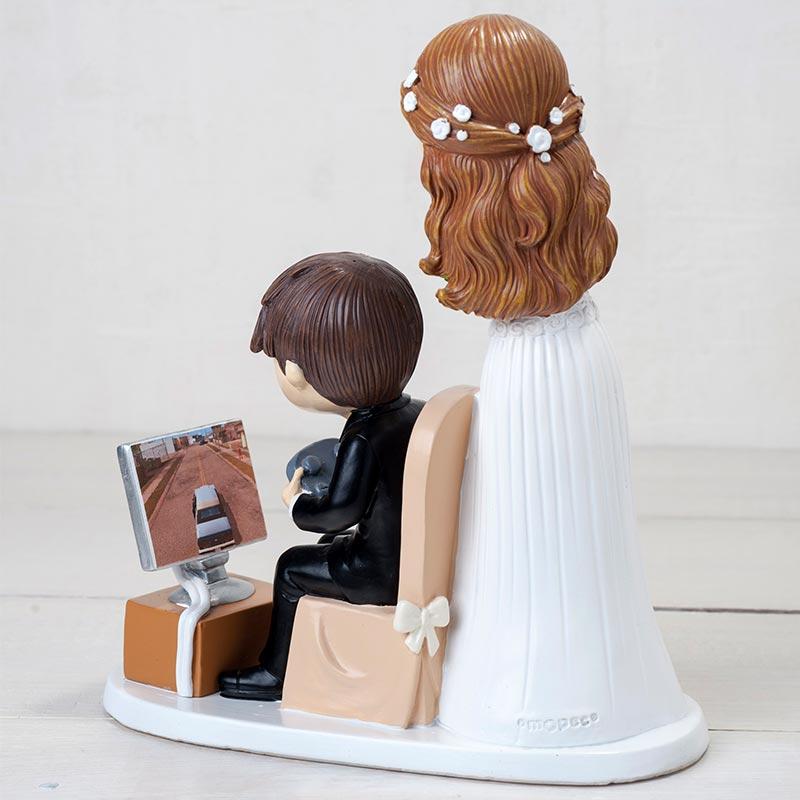"Figura para pastel de boda, modelo ""Videojuegos"". 21cm"