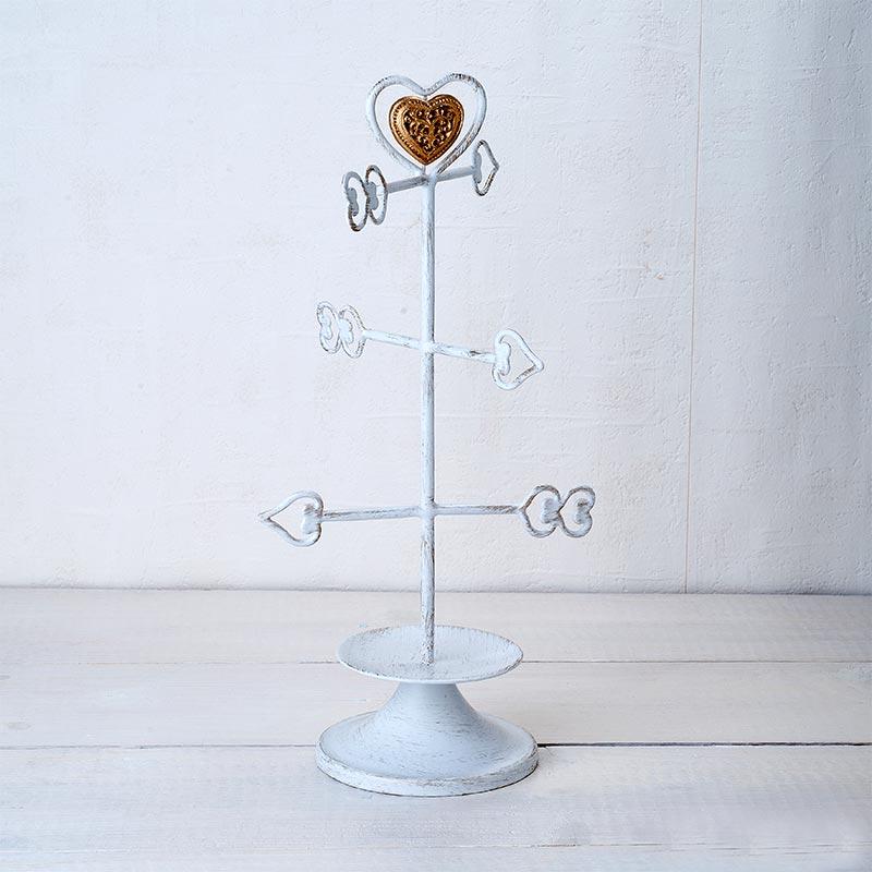 Flechas de los buenos deseos. Joyero. Color blanco. 31cm.