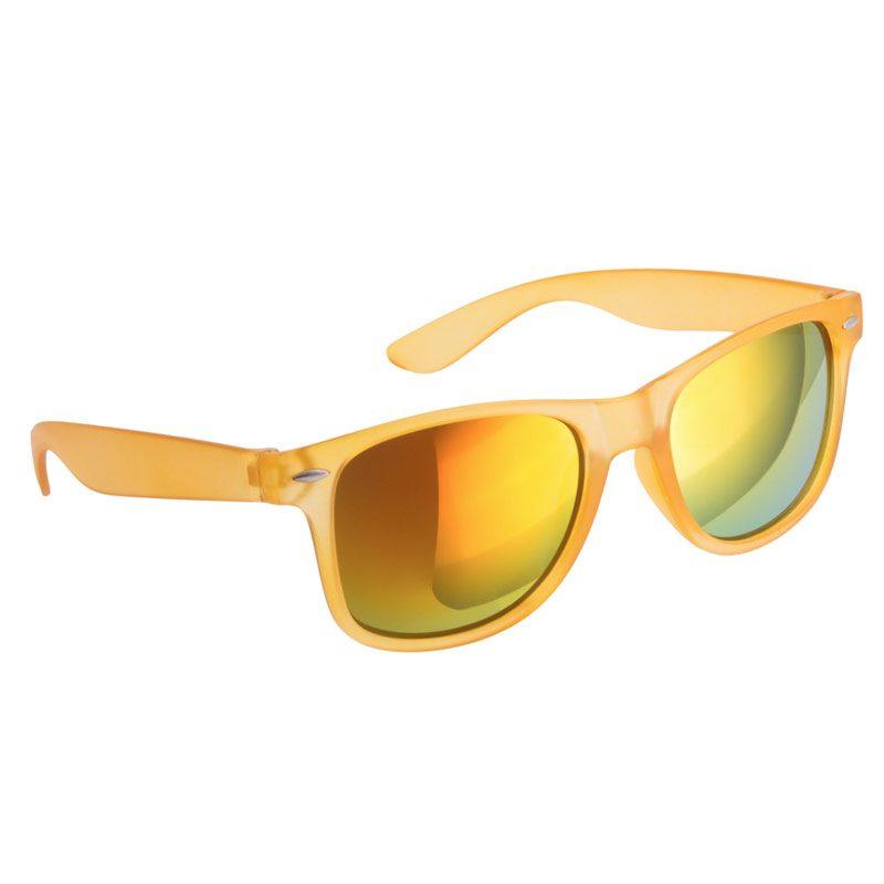 Gafas de sol para boda. Color amarillo. Cristal espejo.